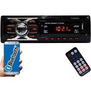 Rádio Automotivo First Option 6660BSC Mp3 Fm Aux Controle Sd Usb