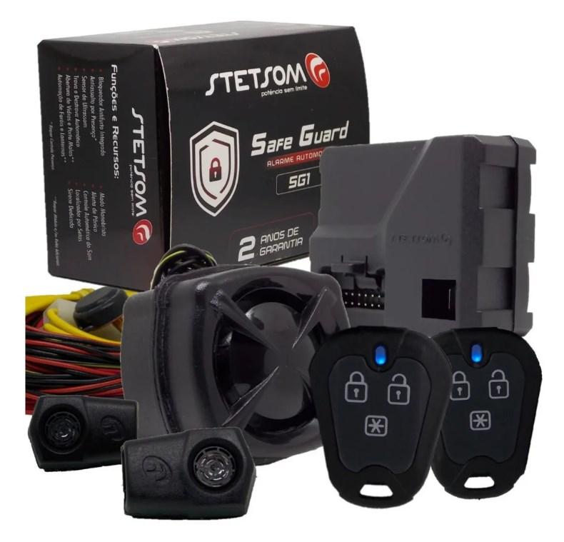 Alarme Automotivo Stetsom SG1 - 2 Controles Carro Presença