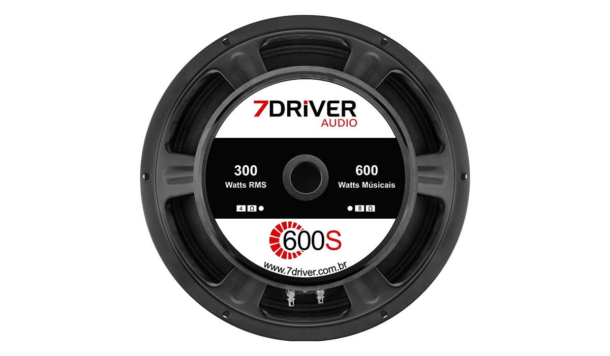 Alto Falante Woofer 7 Driver 600s 12 pol 300w Rms