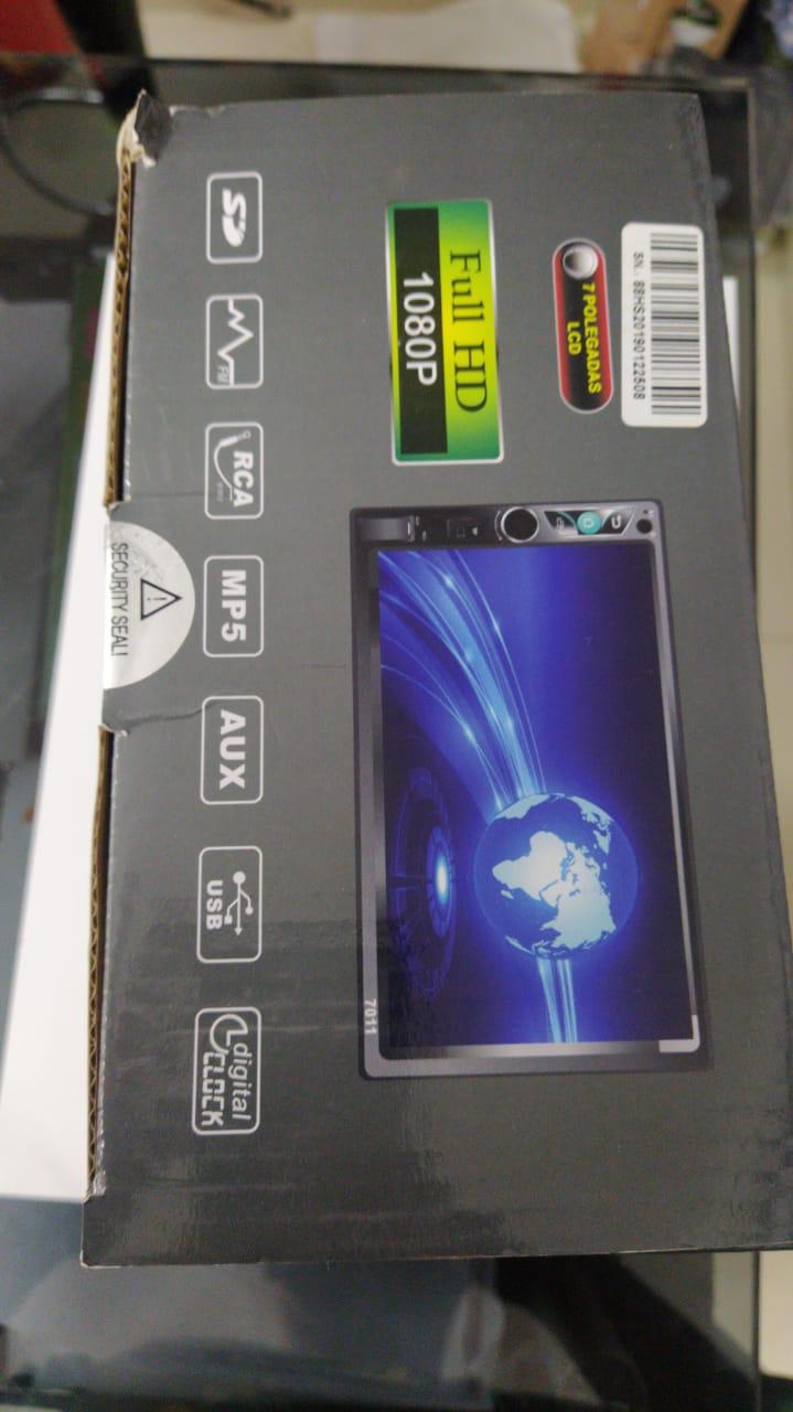 "DVD MEDIA RECEIVER 7"" 2 DIN ESPELHAMENTO ANDROID/IPHONE - MP5-7011"