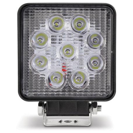 Farol Avulso Shocklight LED -  UNIVERSAL 27W QUADRADO BIVOLT 10V/30V