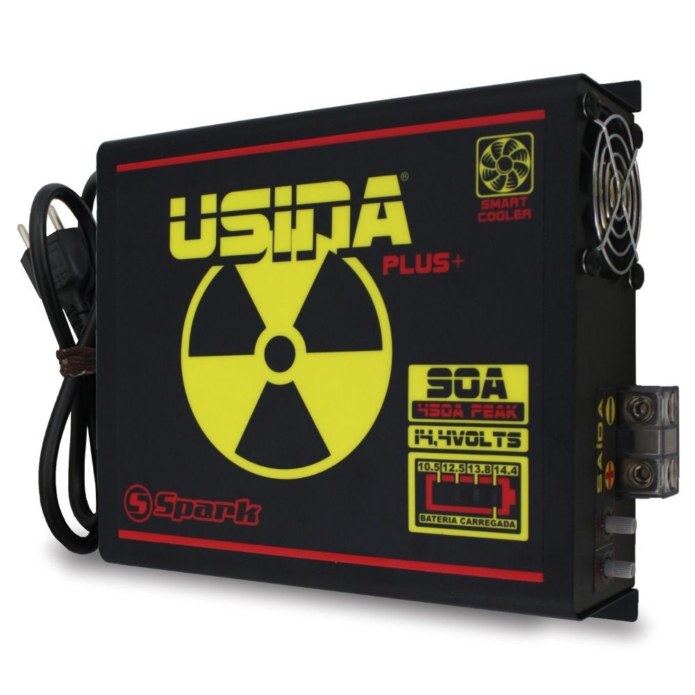 Fonte Automotiva Spark Usina 90a Battery Meter Bivolt