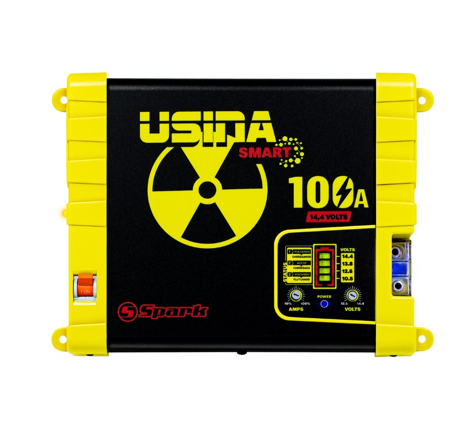 Fonte Automotiva Spark Usina Smart 100a Battery Meter Bivolt