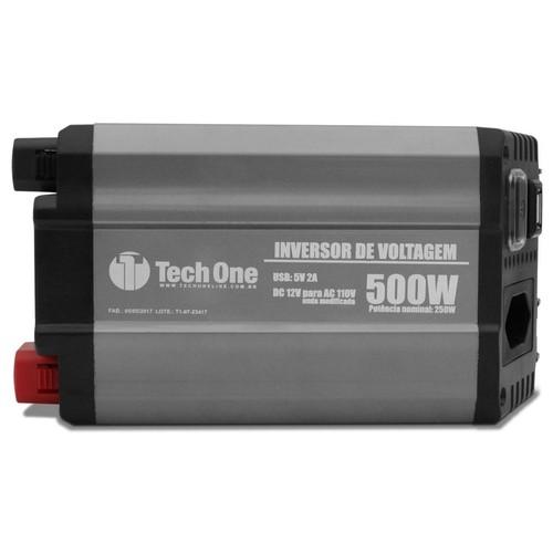 Inversor TechOne 500w 12v x 110v