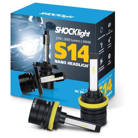 Kit Super Led Shocklight S14 - 32w 3600Lm 6000K 12V H11