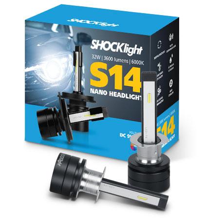 Kit Super Led Shocklight S14 - 32w 3600Lm 6000K 12V H1