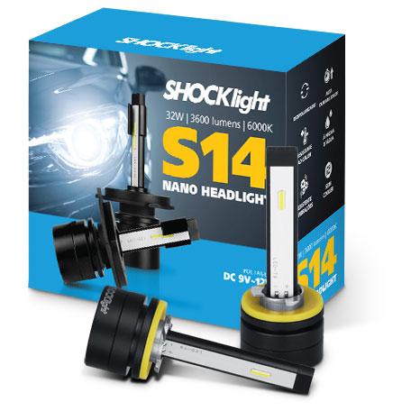 Kit Super Led Shocklight S14 - 32w 3600Lm 6000K 12V H27