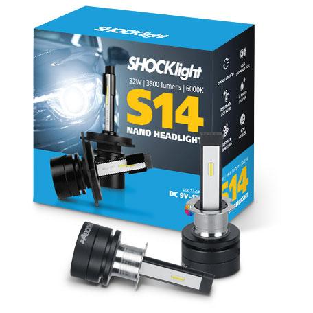 Kit Super Led Shocklight S14 - 32w 3600Lm 6000K 12V H3