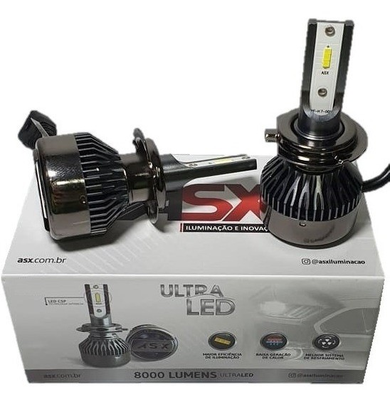 Kit Ultra Led Asx Csp 8000 Lúmens 6000k 70w 12 24v