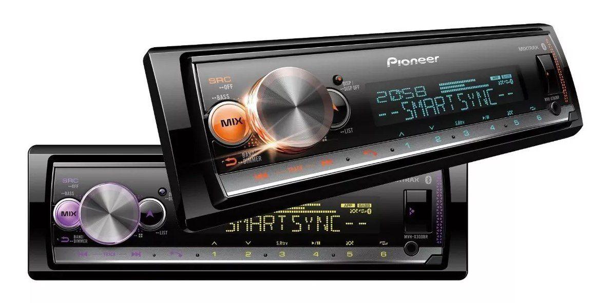MEDIA RECEIVER PIONEER MVH-X300BR X3000BR USB AUX AM FM BLUETOOTH AUTOMOTIVO