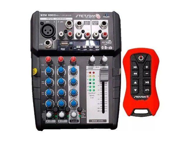 Mesa Stetsom Stm1003 3 Canais 12v Usb Sd Bt + Controle