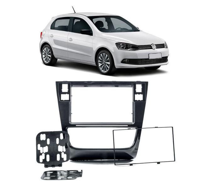 Moldura Automotiva - 2 Din - Gol / Saveiro / Voyage G6 - Preta