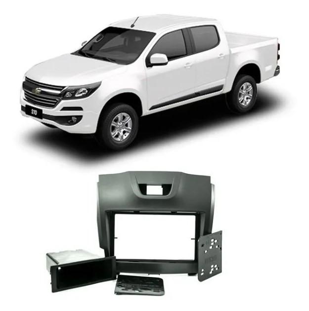 Moldura Automotiva - 2 Din - S10 / Trail Blazer 2013-2020 - Black Piano