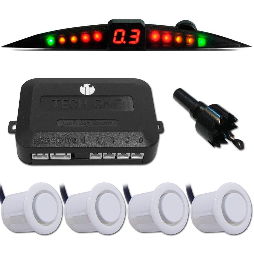 TechOne Sensor de Estacionamento Branco