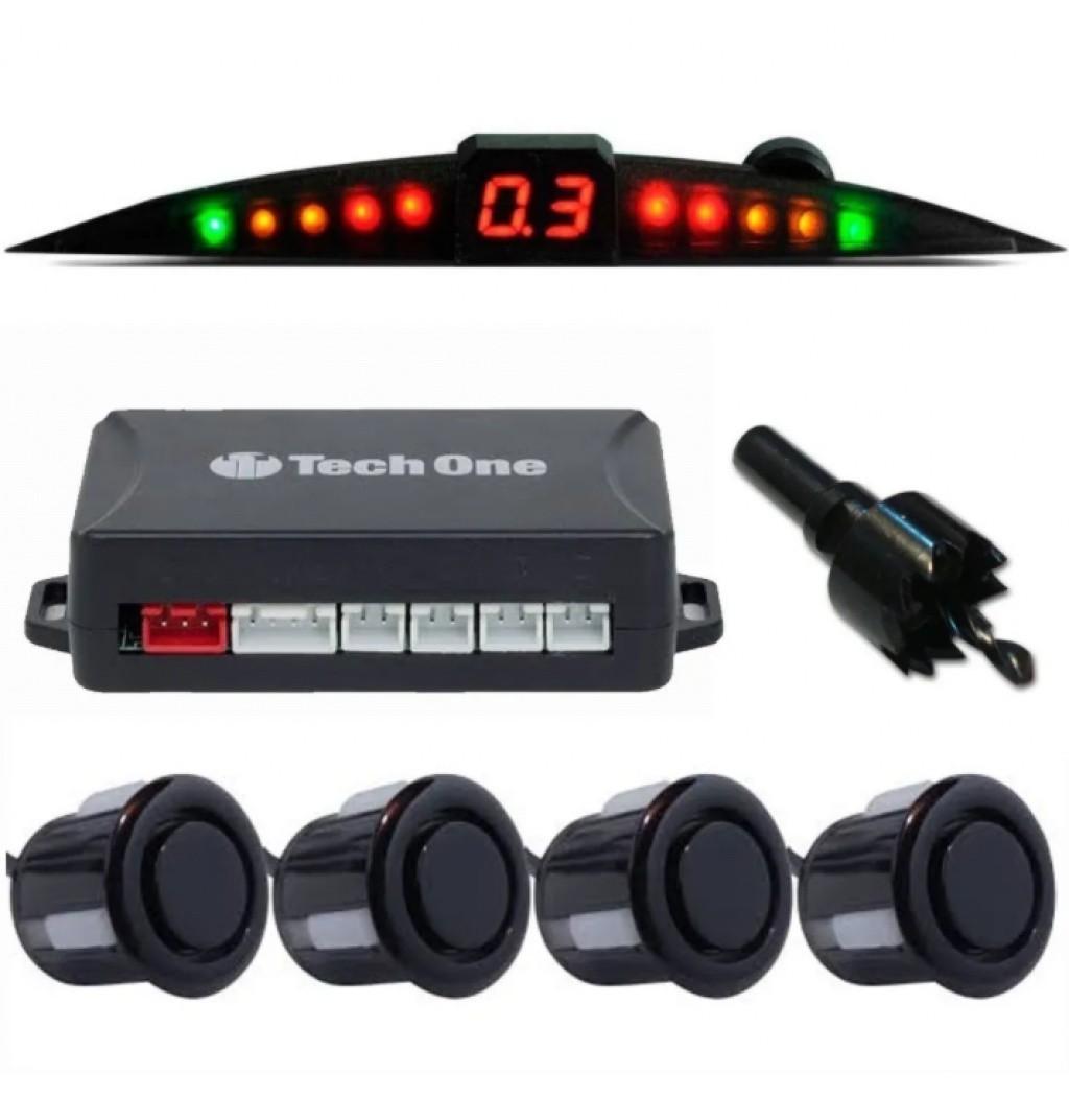 TechOne Sensor de Estacionamento Preto