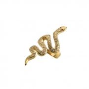 Anel Serpente Microcravejado Banhado a Ouro 18k