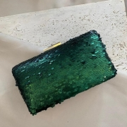 Bolsa Clutch Com Paête Verde