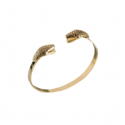 Bracelete Duplo Serpente Banhado a Ouro 18k