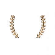 Brinco Ear Cuff Mini Folhas Banhada Ouro 18k