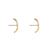 Brinco Ear Hook Liso Fino Banhado a Ouro 18k