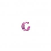 Brinco Piercing Fake 3 Fileiras Lisas Pink Chain Collection