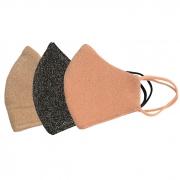Kit 3 Máscaras Laváveis Lurex com Brilho Proteção Facial