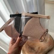 Kit 3 Máscaras Laváveis Lurex com Necessaire