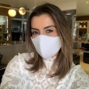 Máscara Lavável Lurex com Brilho Branca Proteção Facial