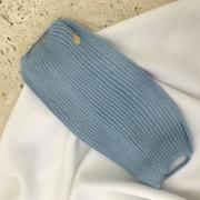 Máscara Tricot Forrada Luxo Azul Candy Lavável