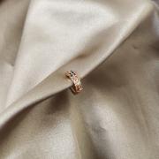 Piercing Fake Fileira Dupla Microcravejado Zirconias Coloridas Banhado a Ouro 18k