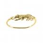 Bracelete Tigre Pontinhos Pretos Banhado a Ouro 18k