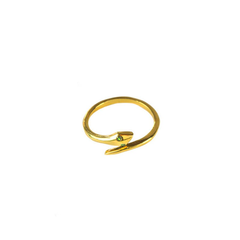 Anel Liso Cobra folheado a Ouro 18k