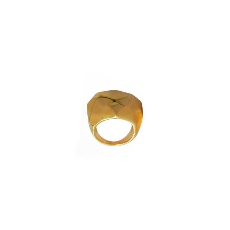 Anel Luxo Folheado a Ouro 18k