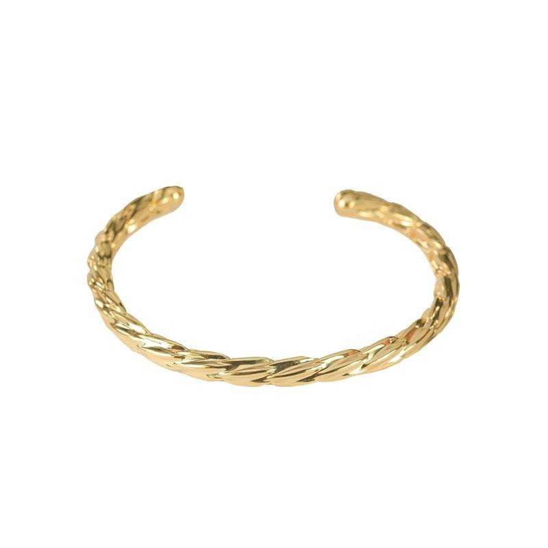 Bracelete Aro Torcido Folheado a Ouro 18k