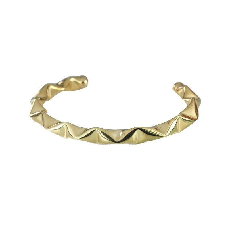 Bracelete Detalhado Banhado a Ouro 18k