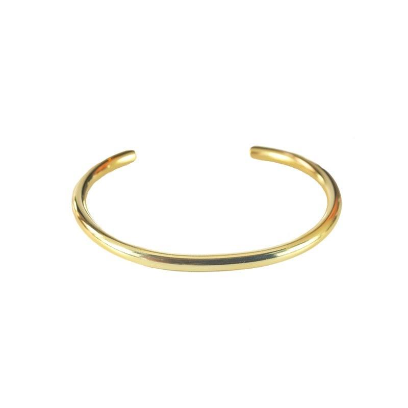 Bracelete Estruturado Liso Folheado a Ouro 18k Claro