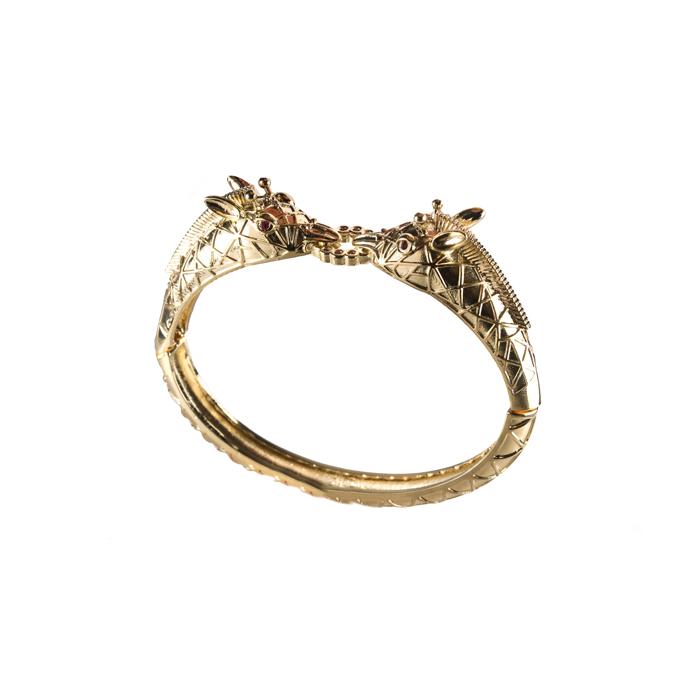 Bracelete Girafa Duplo Banhado a Ouro 18k