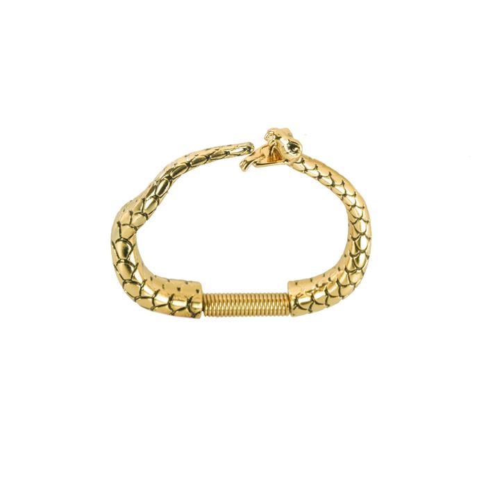Bracelete Serpente Banhado a Ouro 18k