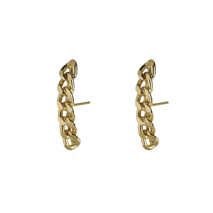 Brinco Ear Hook Corrente Banhada a Ouro 18k