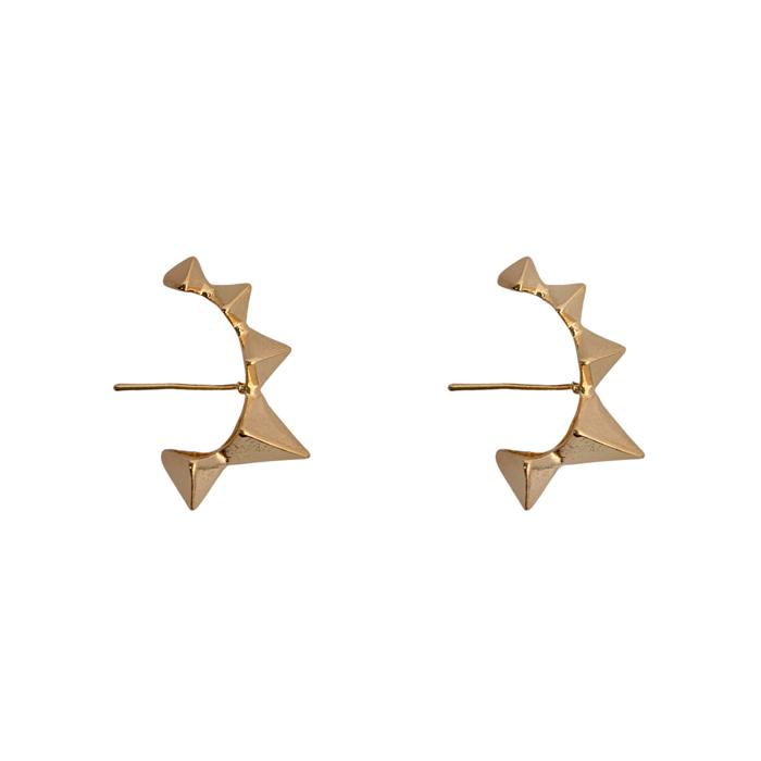 Brinco Ear Hook Spike Banhado a Ouro 18k