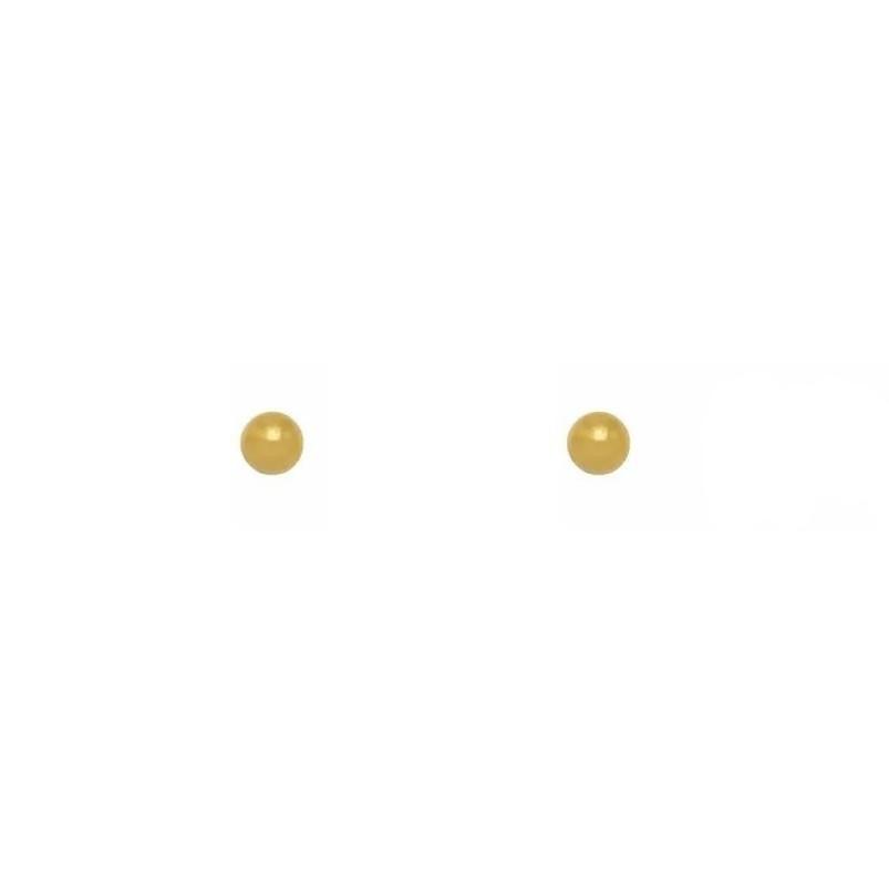 Brinco Mini Esfera Folheado a Ouro