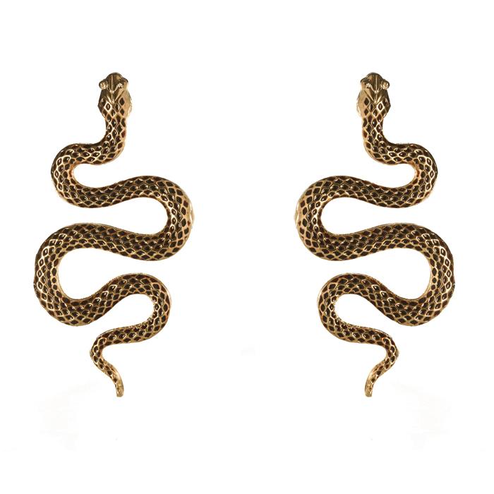 Brinco Serpente Banhado a Ouro 18k
