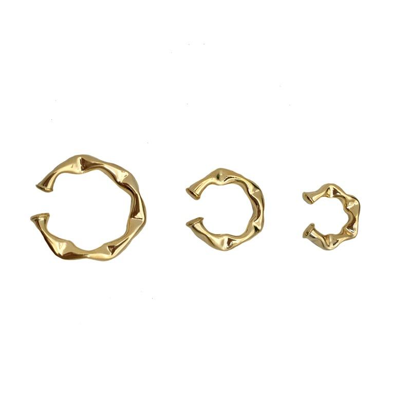Brinco 2 Pares de Trio Piercing Juliette Banhado a Ouro 18k