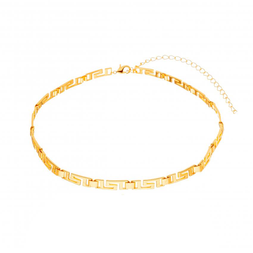 Colar Choker Detalhada Banhado a Ouro 18k