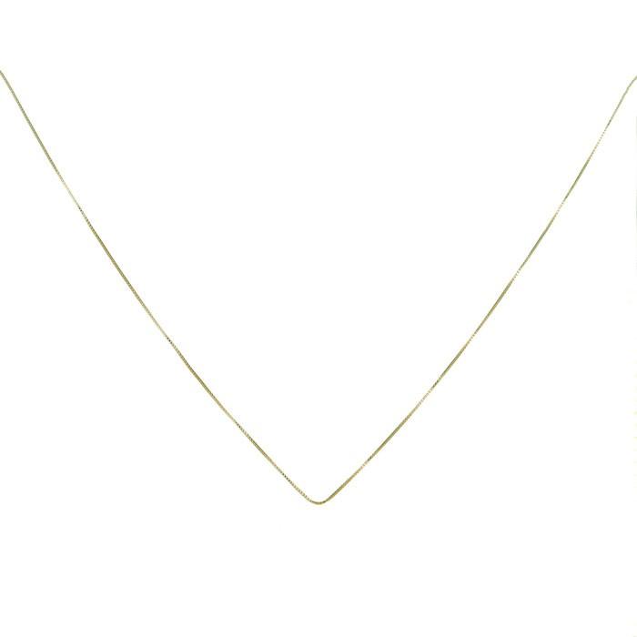 Colar Corrente Veneziana 40cm Avulso Folheado a Ouro 18k