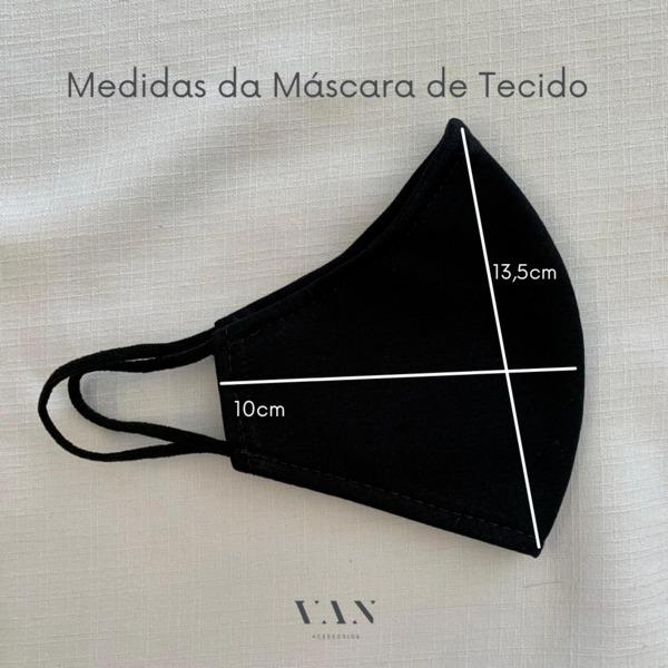 Kit 3 Máscaras Gatinhos Preto Branco Laváveis Dupla Camada