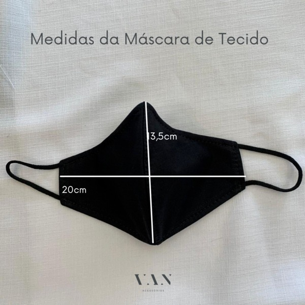 Kit 3 Máscaras Tons Neutros Dupla Camada
