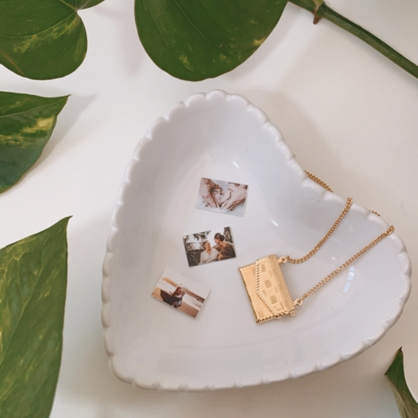 Kit Carta de Amor + Porta Jóias Coração