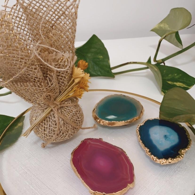 Kit Pocket Socket Ágata Azul+ Sachê Perfumado Bamboo