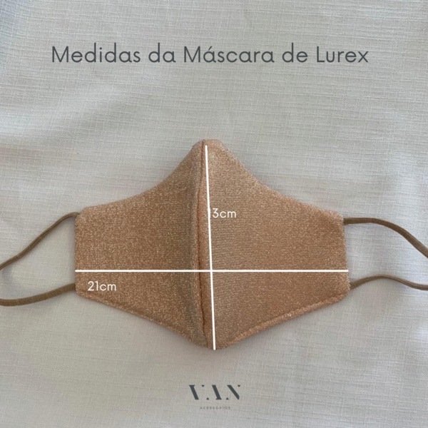 Máscara Lavável Lurex com Brilho Preta Proteção Facial